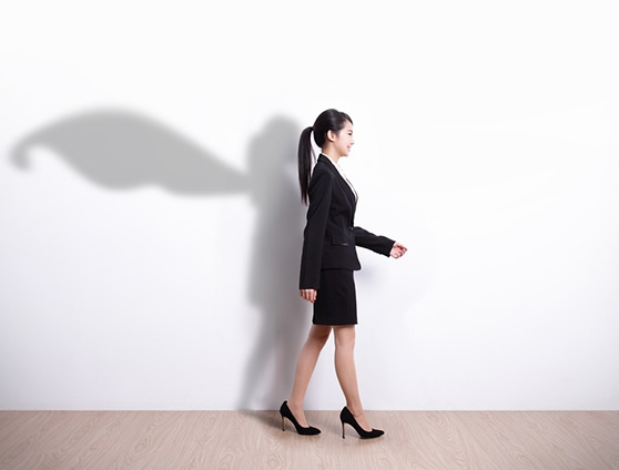 Business woman and shadow