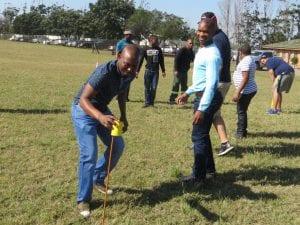 Men team building