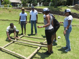Group of people team building