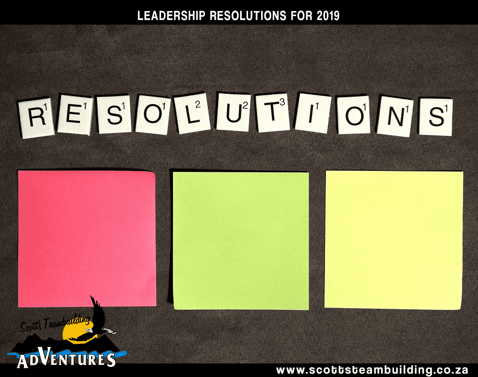 Leadership resolutions for 2019